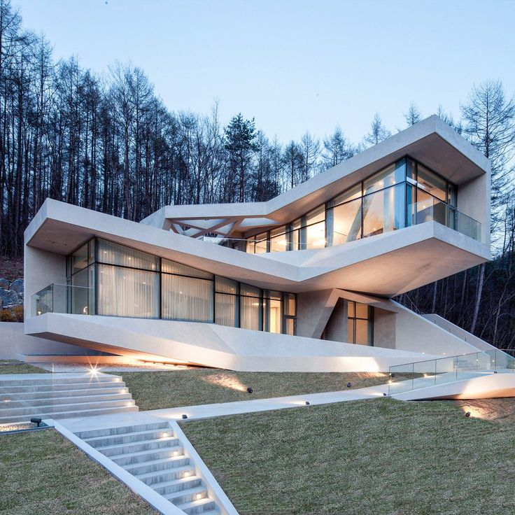 Dezeen @Dezeen Concrete volumes cantilever and twist to provide mountain views from South Korean holiday resort: http://on.dezeen.com/mz3SV5 #architecture