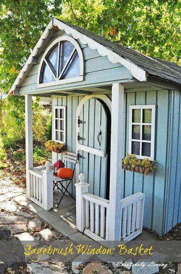 Garden shed idea garten pinterest gartenh user - Gartenhaus romantisch ...