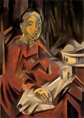"Maria Blanchard (1881 - 1932) ""Seated Woman"" 1928"