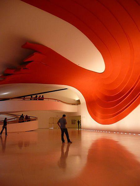 The interior of the auditorium at Ibirapuera Park in Sao Paulo, Brazil
