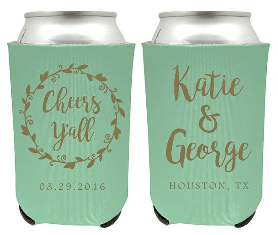 Hey, I found this really awesome Etsy listing at https://www.etsy.com/listing/287813413/cheers-yall-wedding-can-coolers-custom