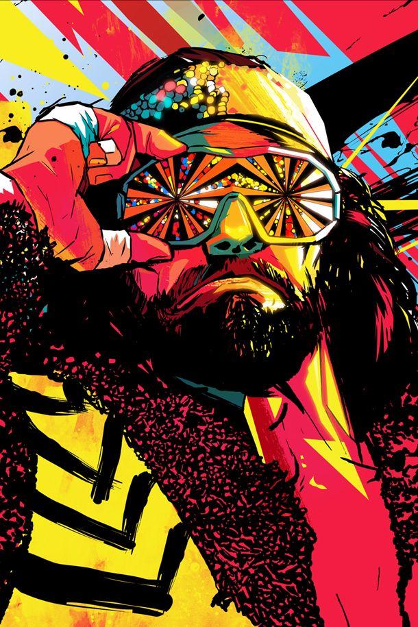 Not a wrestling fan, but a huge fan of this portrait of Randy Savage!