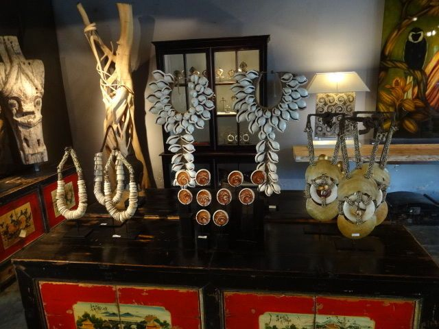 Tribal Art Necklace Lumi Conus Shell Currency Money Trade Papua Ethnographic #Unbranded