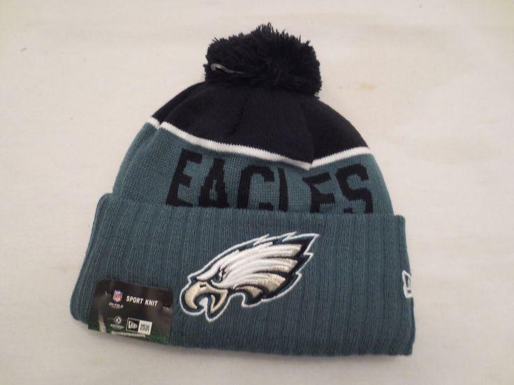 Era Nfl On Field Sport Knit Pom Hat Philadelphia Eagles Sideline Beanie