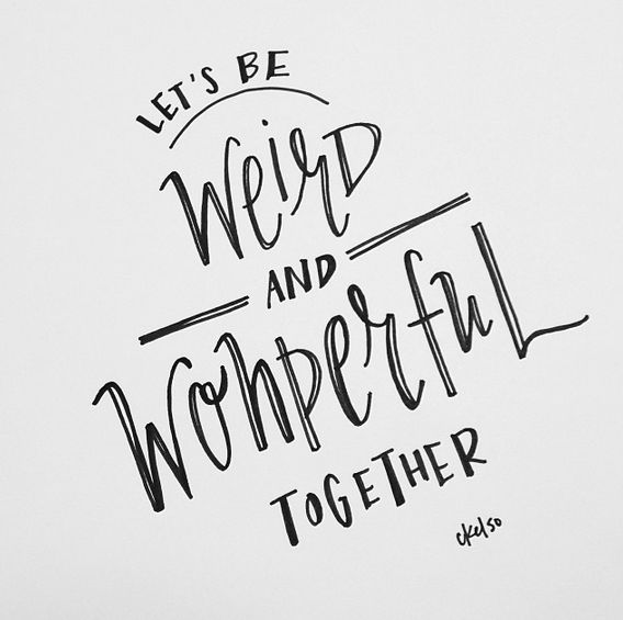 Lettering by Caroline Kelso Winegeart / Made Vibrant / #dailycreate2014 #handlettering #lettering