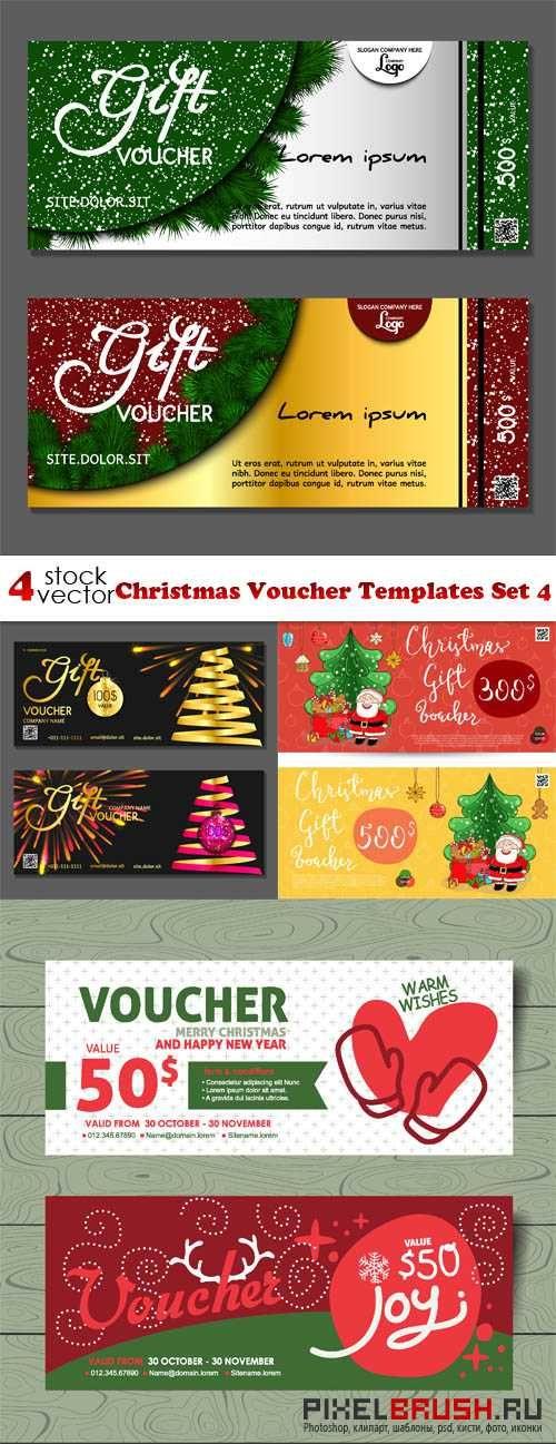 Vectors - #Christmas #Voucher #Templates Set 4