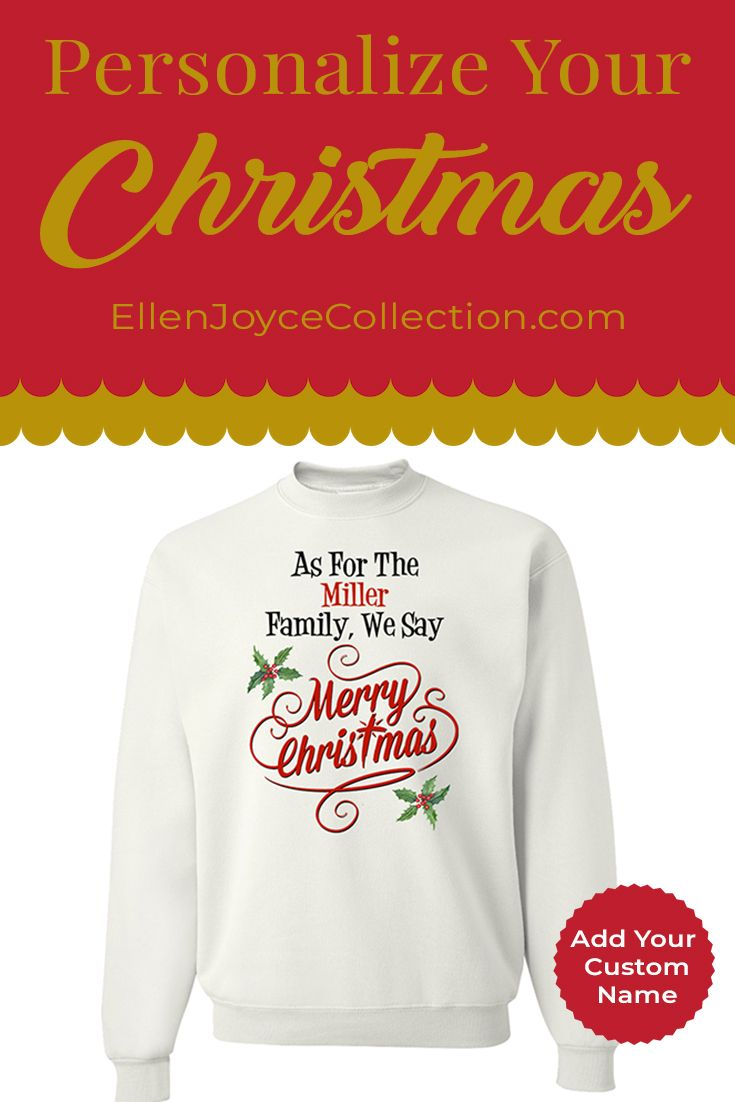 No Name Online Shop Personalized Merry Christmas Family Name Sweatshirt Christian