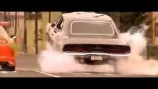 Fast & the Furious Dom's charger doing a wheelie. Best scene of the whole movie.