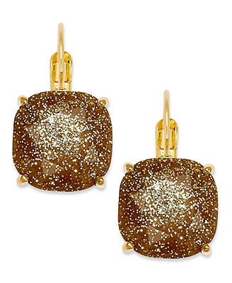 Kate Spade Gold-Tone Glitter Stone  Earrings