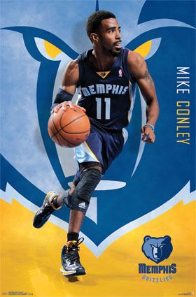 Memphis Grizzlies - M. Conley 2013 | NBA | Sports | Hardboards | Wall Decor | NHL | NFL | MLB | Billiards | Baseball | Basketball | Boxing | Racing | Soccer | Golf | Wrestling | Pictures Frames and More | Winnipeg | Manitoba | MB | Canada
