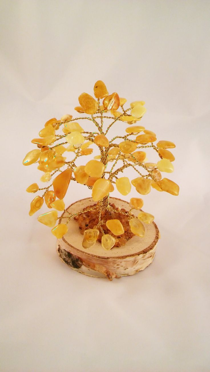 Amber tree of good luck and fortune
