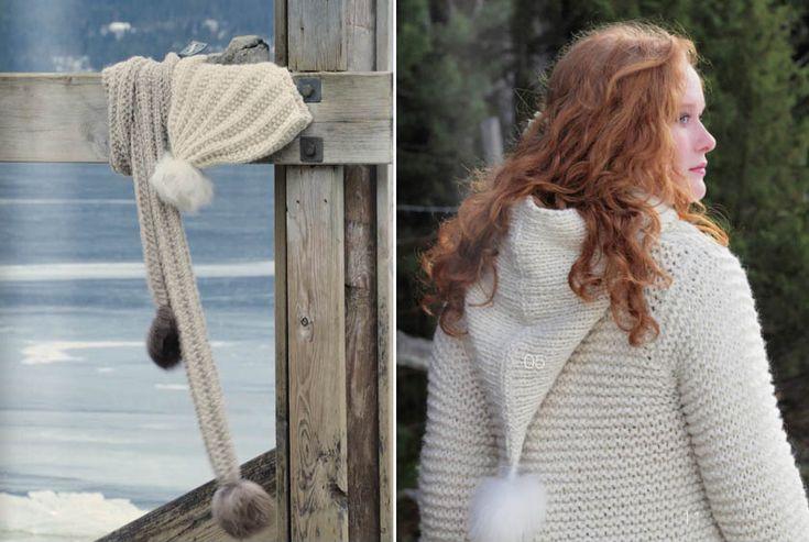 Høsten er på vei - og Du Store Alpakka har et nytt oppskriftshefte med garnet Hexa - 08 - 2012 - Made In Norway Now