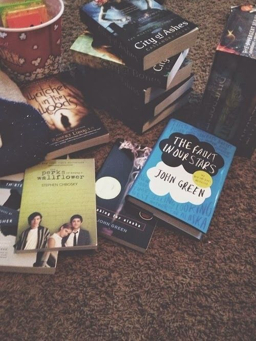 Divergent, Thirteen Reasons Why, The Perks of Being a Wallflower, and The Fault in Our Stars