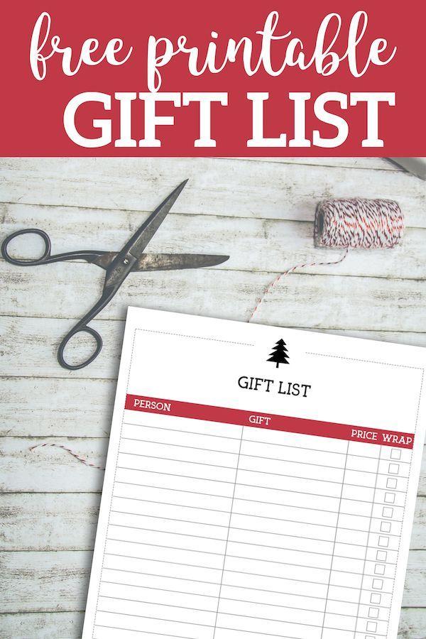 free printable christmas list template gift list christmas