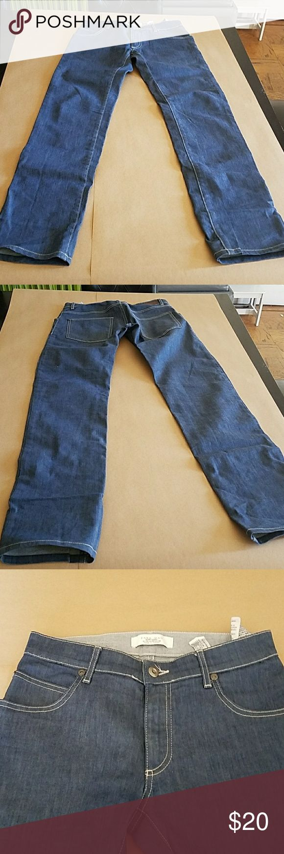 Men's Jeans Zara Man Jeans. In great condition. Blue jean with white stitching. Zara Pants