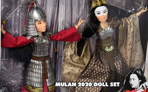 First Images Disney Mulan Live Action Movie 2020 Doll Set Mulan Xianniang From Hasbro In 2020 Mulan Live Action Movie Live Action