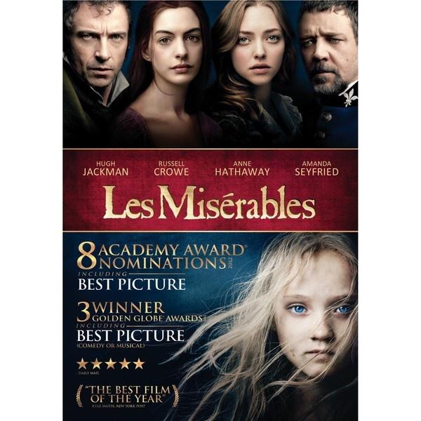 'Les Misérables' comes to DVD and Blu-ray on Friday, March 22, 2013. Cast:  Hugh Jackman,  Russell Crowe,  Anne Hathaway,  Amanda Seyfried,  Sacha Baron Cohen,  Helena Bonham Carter,  Eddie Redmayne, Samantha Barks