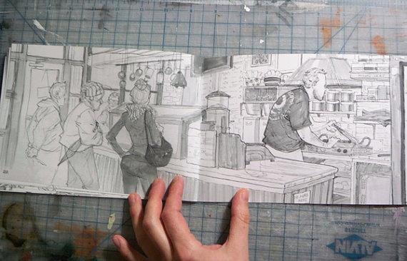 Laura Bifano Daily sketches Zine by PrintsByLaura on Etsy, $10.00