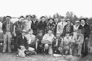 Reliance Foundry employees shown at fishing derby.  On February 17, 1965 a vote among Reliance Foundry's workers passed and the workers entered into a union with the United Steelworkers. Reliance Foundry's workers would have certification with the United Steelworkers, Local No. 2952 for the next 40 years.