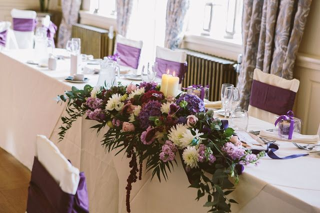 Traditional candlelit Top Table design