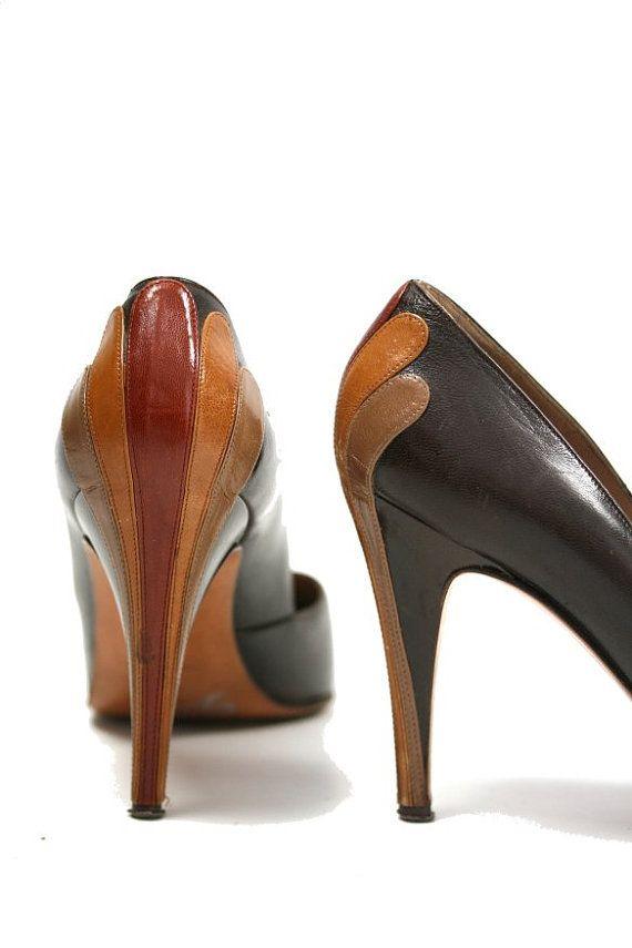 70s Vintage Garolini Designer High Heels 95 by ArtifactVintage