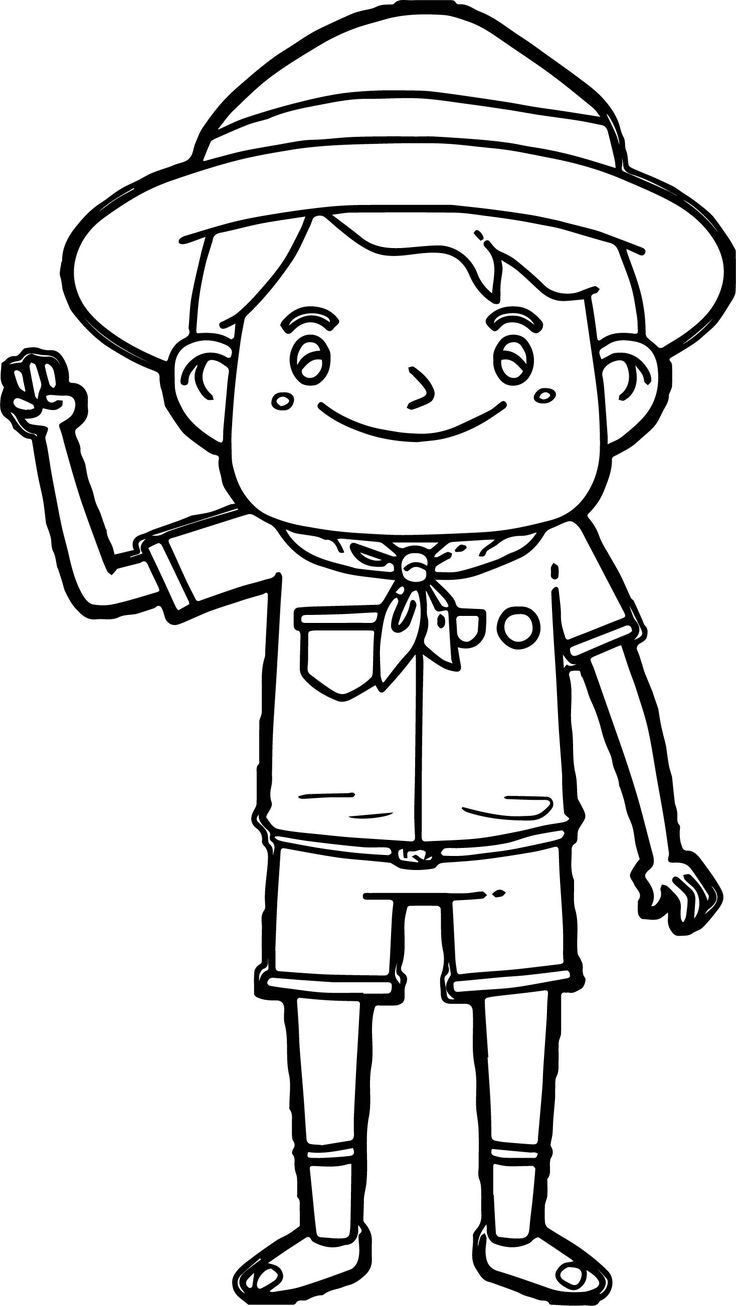 awesome Cartoon Boy Scout Meals Free Camping Coloring Page ...