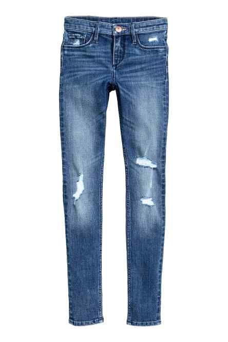 Skinny Fit Worn Jeans