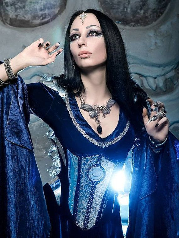 Midnight Blue Elven Costume made to order by DressArtMystery