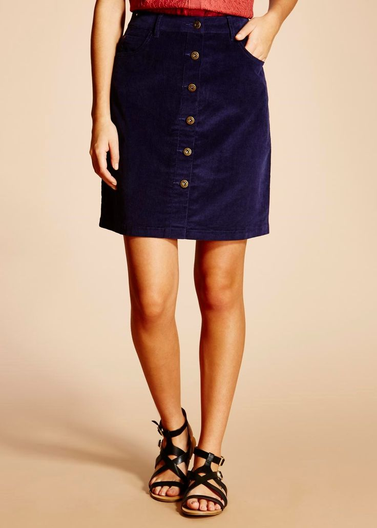 Falmer A-line Cord Skirt
