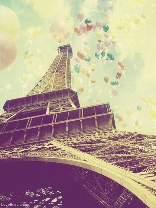 Eiffel Tower & Balloons photography france paris eiffel tower balloons effects