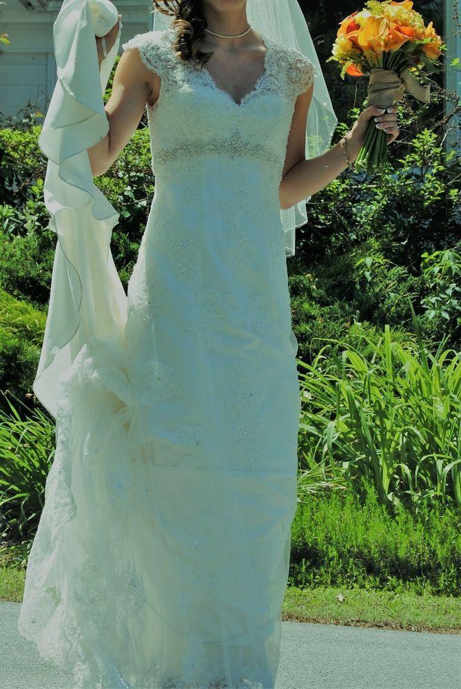 d003ac8cda89 davids bridal wedding dress size 4 T3299 #fashion #clothing #shoes  #accessories #weddingformaloccasion #weddingdresses (ebay link)