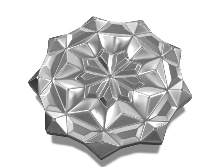 Mandala brooch - a 3D model created with VECTARY - the free online 3D modeling tool #3Dprinting