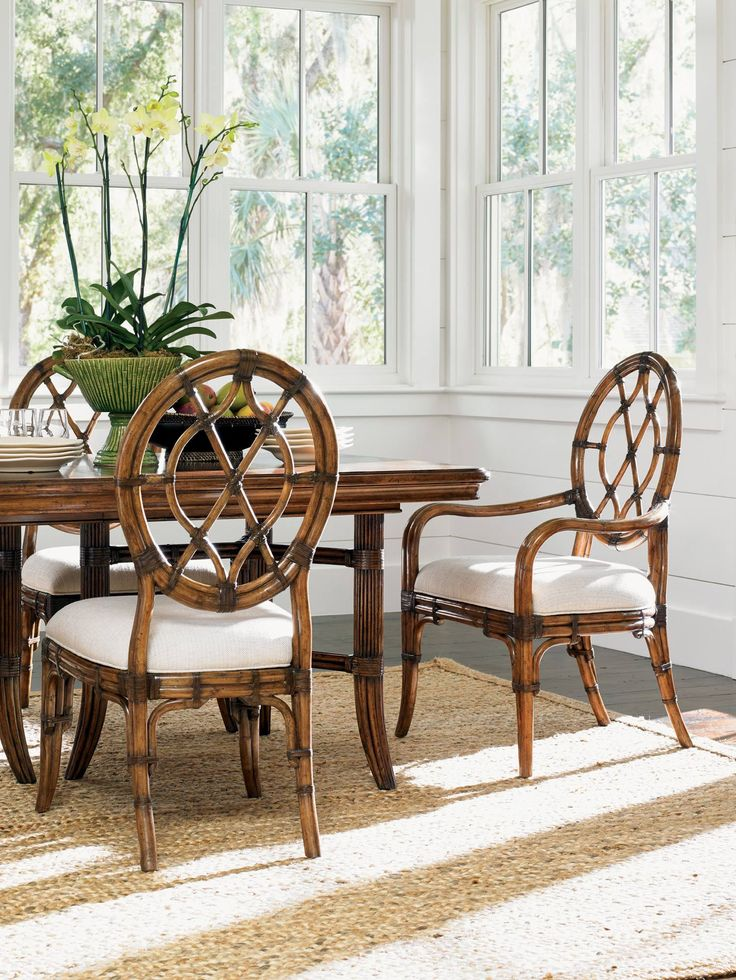 Cedar Key Oval Back Dining Side Chair | Tommy Bahama Home | Home Gallery Stores