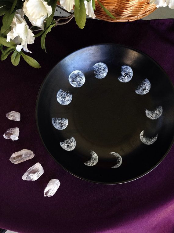 Moon Phase Decorative Bowl by SeaBloomByRainy on Etsy