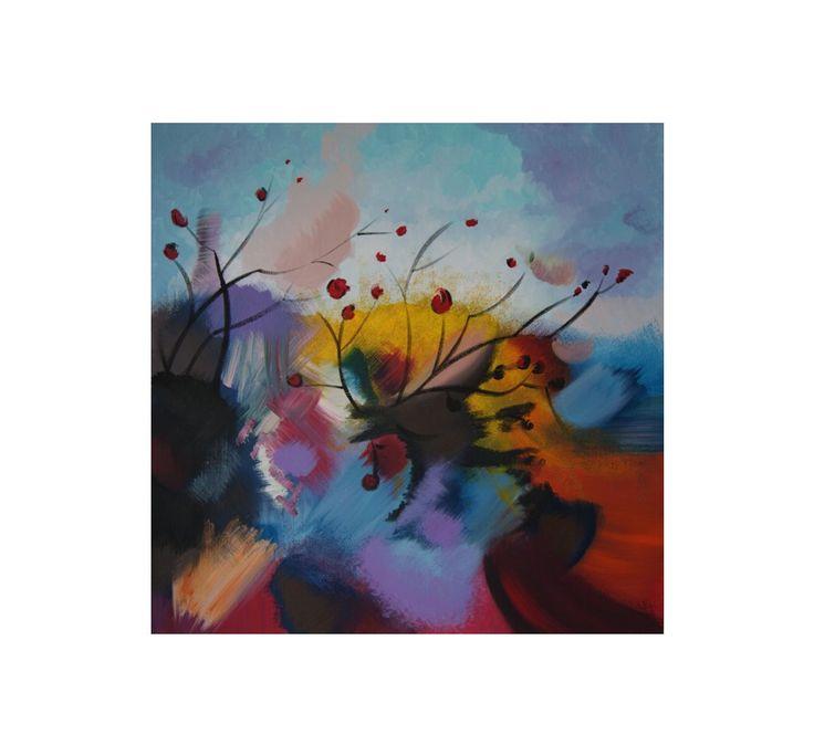 Pezzi di destino Artist: Ylenia Gambuto Technique: Acrylic painting – Acrylic color on canvas Dim: cm 70x70