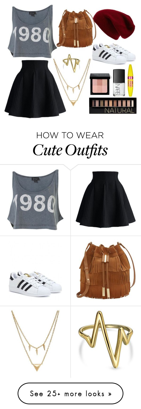 """Cute and Lazy Outfit"" by marissahines on Polyvore featuring Sole Society, Chicwish, Bling Jewelry, Edge of Ember, Forever 21, Bobbi Brown Cosmetics, NARS Cosmetics, Maybelline, Vince Camuto and adidas"