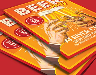 """Check out new work on my @Behance portfolio: """"Beer Party Happy Hour Flyer Poster"""" http://be.net/gallery/40109081/Beer-Party-Happy-Hour-Flyer-Poster"""