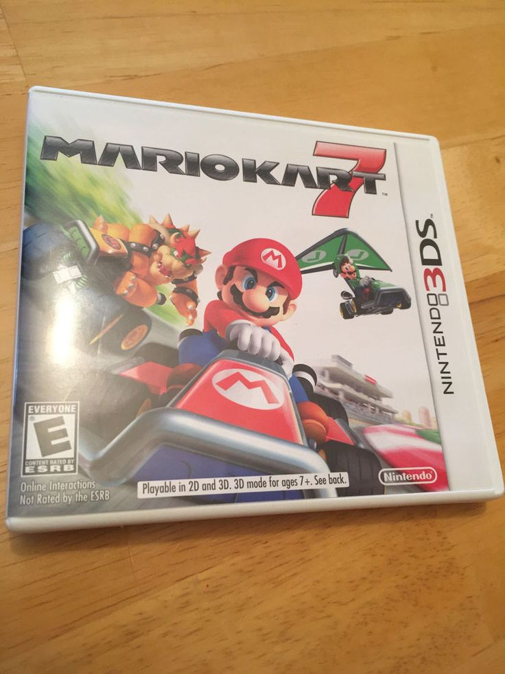 Mario Kart 7 Nintendo 3DS 2011 Case Video Game Cartridge 3 DS #Nintendo