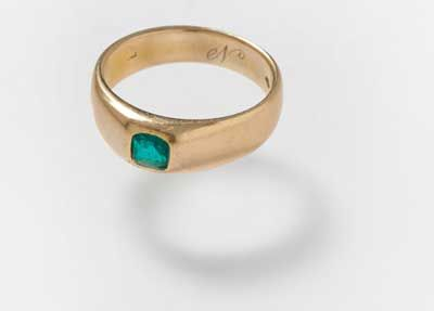 Orafo viennese, anello, oro, smeraldo, metà XIX secolo / Wiener goldsmith, ring, gold, emerald, half of 19th century, Gorizia, Palazzo Coronini Cronberg inv. 7562
