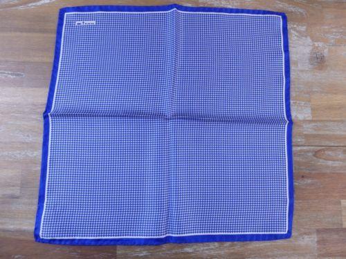 auth KITON Napoli silk houndstooth pocket square handkerchief - NWOT