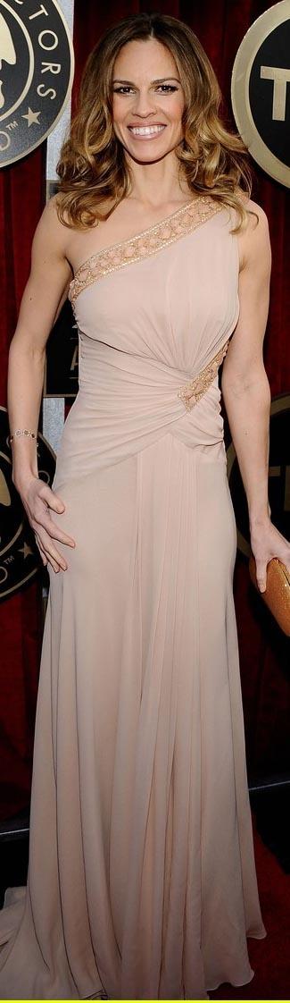 Nude long dress #oneshoulder  For the principle sponsors