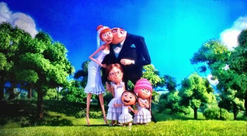 Despicable Me 2 Gru With His Beautiful Lovely Precious Kind Wife And Best Friend Lucy And The 3 Beautiful Lovely Precious Kind Whacky Daughters Margo, Edith And Agnes Form A Very Beautifully Loving Crazy Family!!