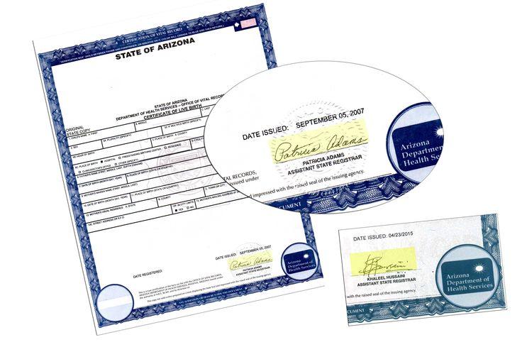 arizona state birth certificate patricia