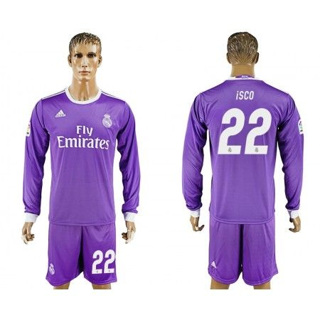 Real Madrid 16-17 #Isco 22  Bortatröja Långärmad,304,73KR,shirtshopservice@gmail.com