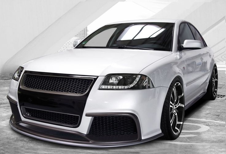 Body kit front with aftermarket headlights