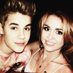 Justin Bieber and Miley Cyrus...