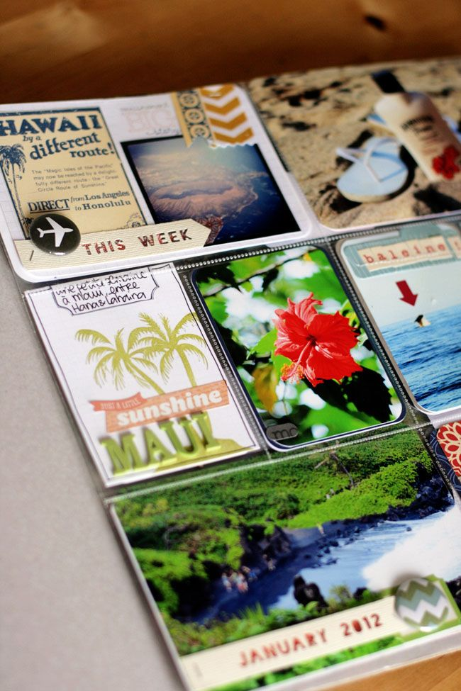 "Love the vintage-style ""Hawaii"" insert"