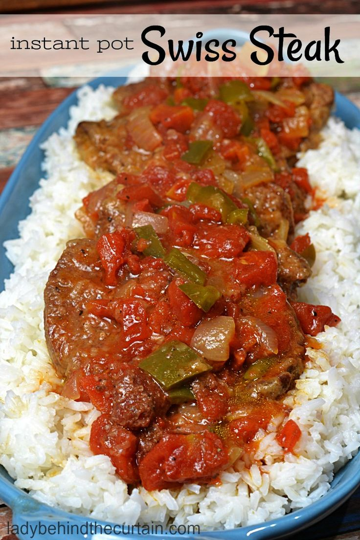 Instant Pot Swiss Steak | This one pot wonder is not only my families number one favorite dish but it's easy and perfect for a hearty meal.