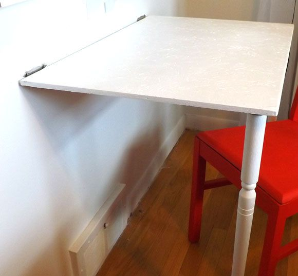 Great DIY organizing project.  They also sell these fold down tables.
