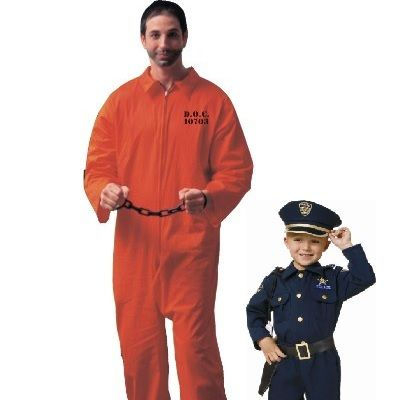 Father and Son Costumes - Cops and Inmates